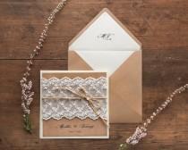 wedding photo - Rustic Wedding Invitation Suite (20), Wedding Invitations Rustic, Lace Wedding Invitations, Craft Wedding Invitations Lace, Wedding Invites