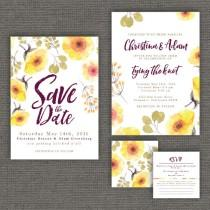 wedding photo - Summer & Autumn Wedding Invitation Package