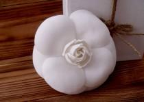 wedding photo - White Camellia, Camellia Brooch, Chanel Style, White Flower, Urban Style Brooch, Stylish Brooch, Stylish Accessory, Handmade Flower