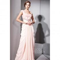wedding photo - Queenly Sheath-Column Sweetheart Floor Length Chiffon Evening Dress with Crystals COZF1402F - Top Designer Wedding Online-Shop