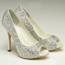 wedding photo - Charlize Crystal Bridal Shoes