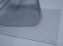wedding photo - Navy Blue  -  French netting fabric - 9 inch wide -  for DIY birdcage veils and fascinators