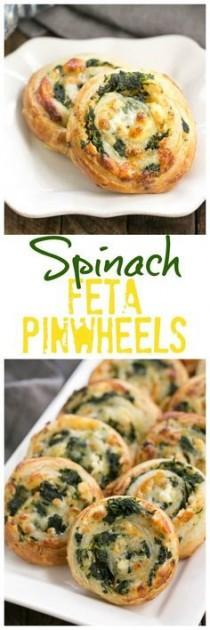 wedding photo - Spinach Feta Pinwheels