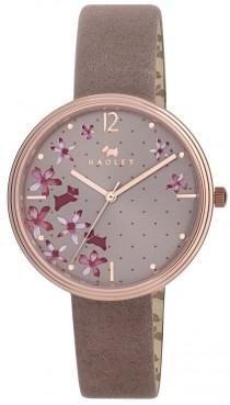 wedding photo - Radley Ladies Rosemary Gardens Floral Dial Pink Leather Strap Watch RY2314