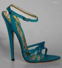 wedding photo - Sandals: Laura 1554 - 6'  Stiletto Turquoise Sandals
