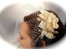 wedding photo - Fascinator Bridal Veil Vintage Bridal Headpiece Wedding Accessories  B-113