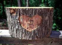 wedding photo - Wood log cake stand, wood cake stand, stump, cake stand, wood log, personalized cake stand!
