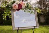 wedding photo - Wedding Welcome Mirror - Welcome Mirror Sign - Welcome Mirror Sign - Welcome Wedding Sign Mirror - Mirror Welcome Sign