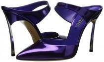 wedding photo - Casadei Candylux Purple Mule Sandals Review