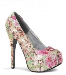 wedding photo - Bordello Teeze Floral Sequin Platforms
