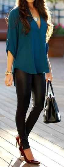 wedding photo - 46 Great Outfit Ideas For Styling Black Leather Skinny Pants