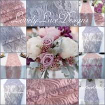 "wedding photo - WEDDING Decor/LaceTable Runnes/Silver/Grey&Mauve/Dusty Rose/3ft-10ft long x 7""wide/Overlay/Wedding Decor/Tabletop decor/Centerpiece"