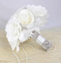 wedding photo -  White bridal bouquet