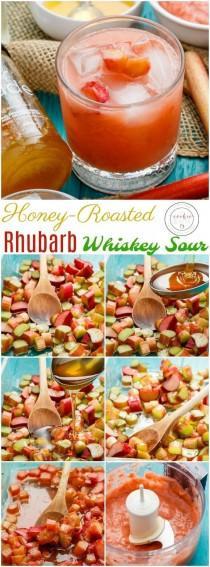 wedding photo - Honey-Roasted Rhubarb Whiskey Sour