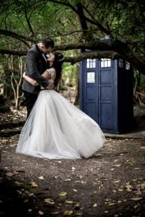 wedding photo - Doctor Who & Harry Potter Geeky Fandom Wedding