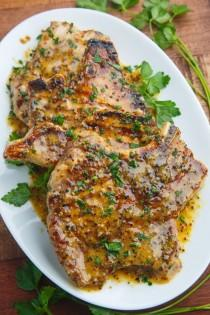 wedding photo - Honey Mustard Grilled Pork Chops