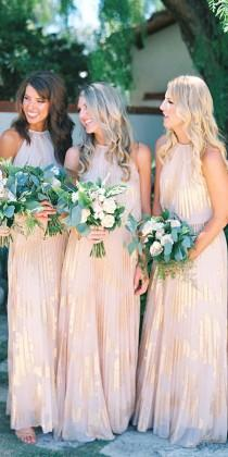 wedding photo - 18 Full On Glitz Sequined & Metallic Bridesmaid Dresses