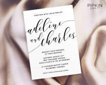 wedding photo - Printable Wedding Invitation Suite