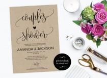 wedding photo - Printable Couple's Shower Invitation - Couples shower invitation printable - Wedding Shower Invitation PDF Instant Download  #WDHOO82