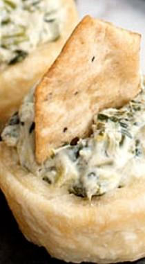 wedding photo - Mini Spinach Dip Tartlets