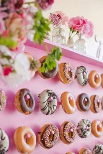 wedding photo - 9 DIY Donut Wall Ideas You'll Want To Steal