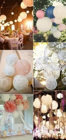 wedding photo - Beautiful And Stylish Wedding Hanging Decorations