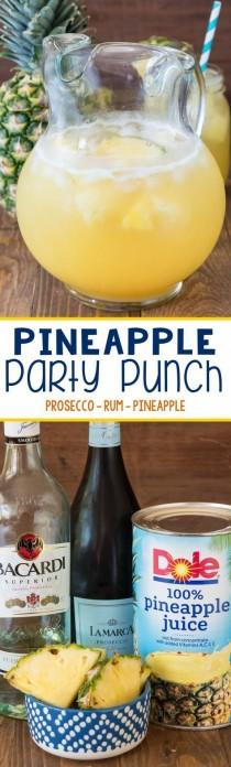 wedding photo - Pineapple Party Punch