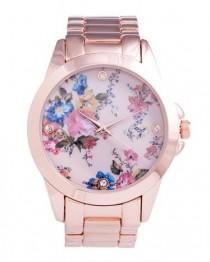 wedding photo - Belle Fleur Rose Watch