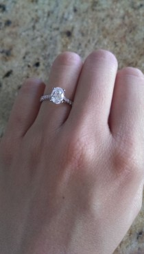 wedding photo - I Caved And Reset My E-ring…joined The Halo Club! - Weddingbee