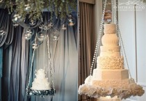 wedding photo - Suspended Wedding Cakes