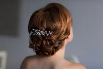 wedding photo - Wedding Hair Vine With Rhinestones, Bridal Headband Comb Headpiece