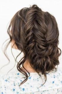 wedding photo - Crown Braid With Messy Updo Wedding Hairstyle Idea