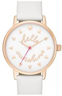 wedding photo - Nordstrom - Kate Spade New York 'metro - Sunshine' Leather Strap Watch, 34mm
