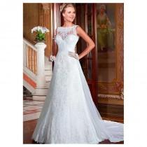 wedding photo - Charming Lace & Tulle Bateau Neckline 2 in 1 Wedding Dresses with Lace Appliques - overpinks.com