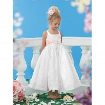 wedding photo - Jordan Sweet Beginnings Flower Girl Dresses - Style L447 - Formal Day Dresses