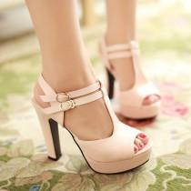 wedding photo - Cross Strap Platform Sandals Women Pumps High Heels Shoes Woman