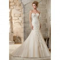 wedding photo - Mori Lee 2790 Strapless Beaded Fit and Flare Wedding Dress - Crazy Sale Bridal Dresses