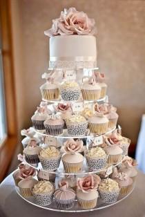 wedding photo - 36 Totally Unique Wedding Cupcake Ideas