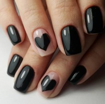 wedding photo - 16 Ideas For Black Nail Polish That You'll Love If You Have A Cold, Black Heart