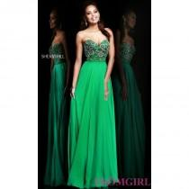 wedding photo - Long Strapless Sweetheart Sherri Hill Dress - Brand Prom Dresses