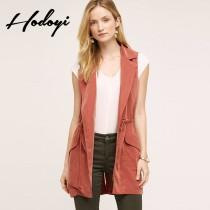 wedding photo - Slim casual boyfriend style in Harajuku in autumn and winter coat long sleeved thin personality and handsome solid color vest wo - Bonny YZOZO Boutique Store