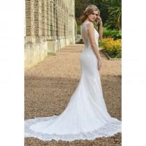 wedding photo - Style 1704 by Catherine Parry - Ivory  White Lace Illusion back Floor Sweetheart  Illusion Wedding Dresses - Bridesmaid Dress Online Shop