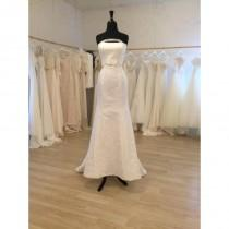 wedding photo - Strapless Mermaid Fit Wedding Dress - High Quality - Made to Fit - Hand-made Beautiful Dresses