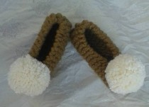 wedding photo - Women's slippers, Bridal Slippers, Non Slip, Wedding Ballet Flats, Home shoes,  Pom Pom slippers, Furry White Chunky,Women Pom Pom slippers