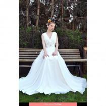 wedding photo - Lina Becker - 5139 2013 Floor Length V-neck A-line Sleeveless Long - Formal Bridesmaid Dresses 2017