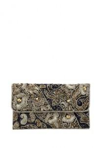 wedding photo - F&F Embellished Beaded Clutch Bag