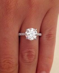 wedding photo - Details About 2.38 CT ROUND CUT D/SI1 DIAMOND SOLITAIRE ENGAGEMENT RING 14K WHITE GOLD