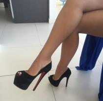 wedding photo - Fishnet And High Heels - Down-poison