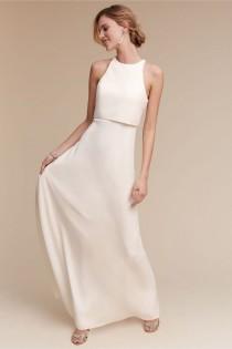 wedding photo - White Bridesmaid Dresses