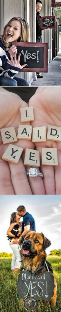 wedding photo - 18 Best Engagement Announcement Photo Ideas - Page 4 Of 4